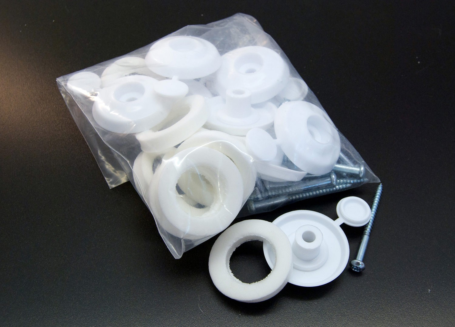 16mm Fixing Buttons 10-pack (White)
