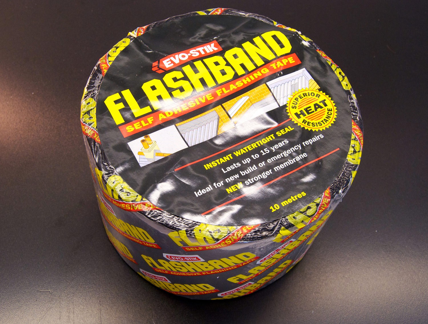 225mm Self Adhesive Flashband (Lead Colour) x 10m