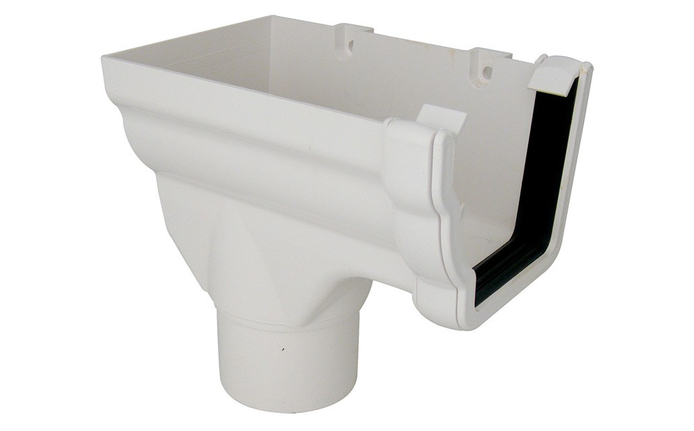 Running Outlet Stopend Square (White)