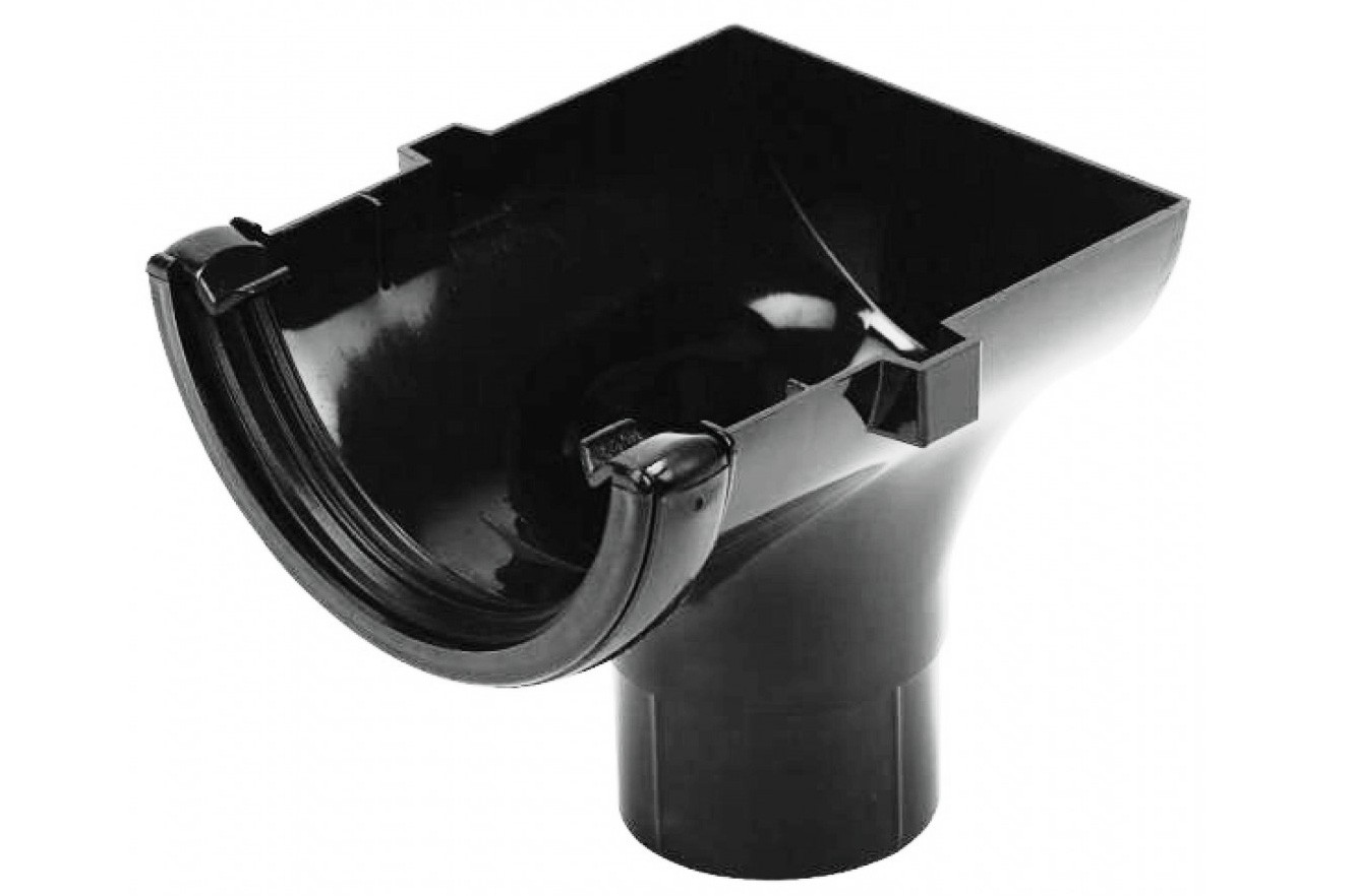 Running Outlet Stopend Square (Black)