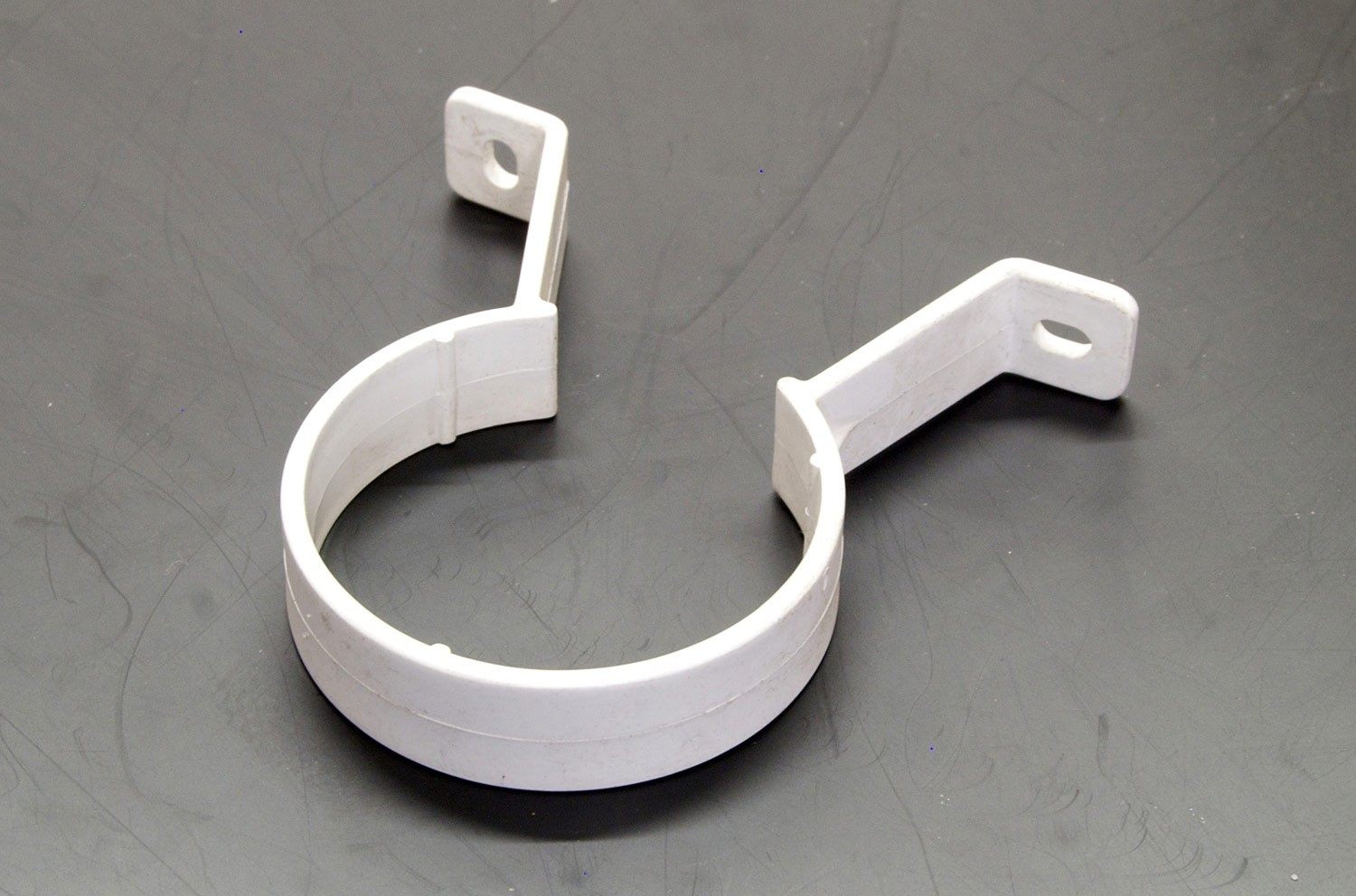 Downpipe Bracket Round (White)
