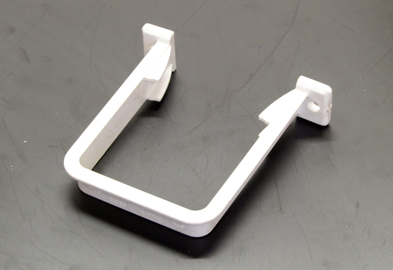 Downpipe Bracket Square (White)