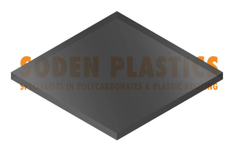 3mm Dark Transparent Grey Perspex Sheet (923)