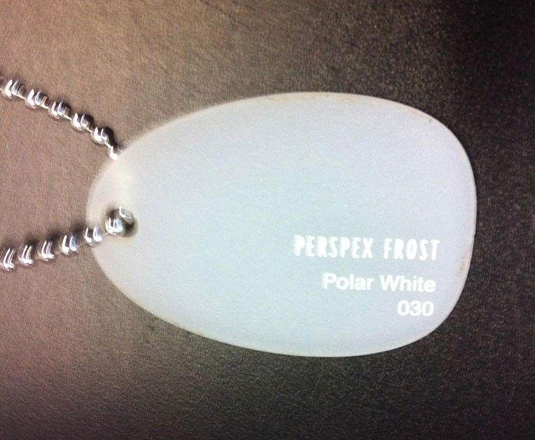 3mm White Frosted Perspex Sheet (S2030)