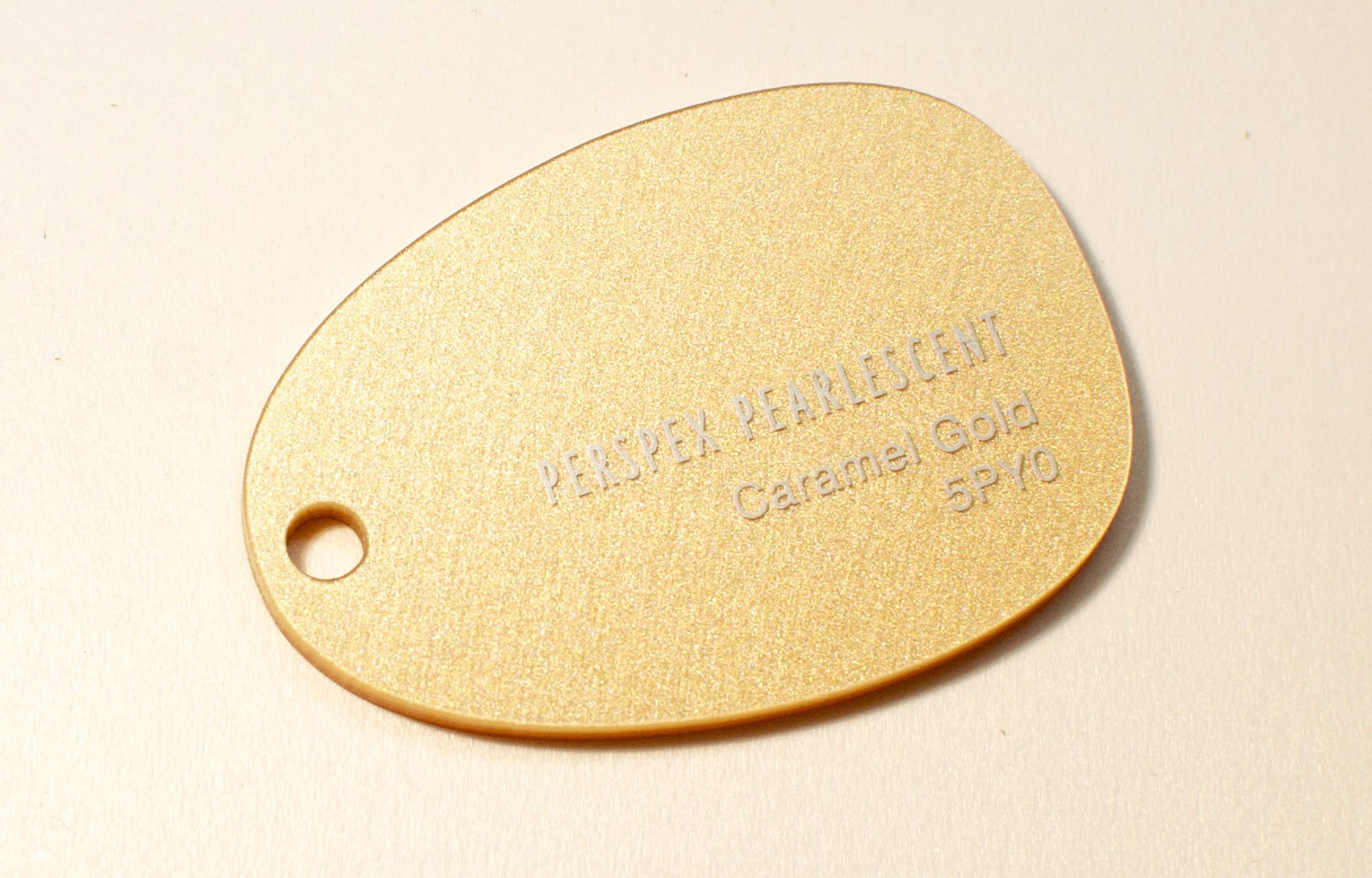 3mm Caramel Gold Pearlescent Perspex Sheet