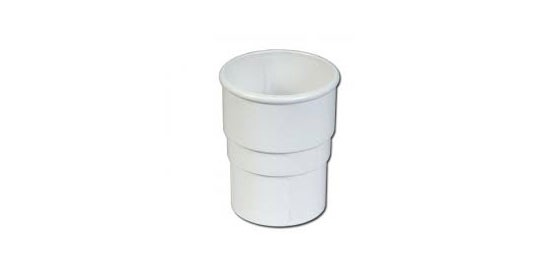Pipe Socket Round (White)