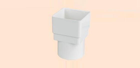 Square to Round Adaptor (White)