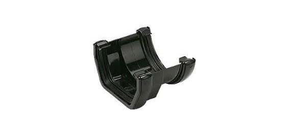 Square to Round Gutter Adaptor (Black)