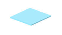 3mm Pastel Perspex Sheet Candy Floss Blue