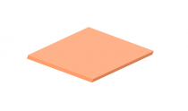 3mm Pastel Perspex Sheet Orange Fizz
