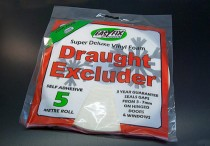5m Foam Draught Excluder (For 3-7mm Gap)