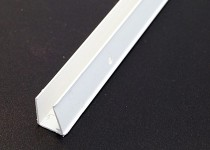 U End Sheet Closures 2100mm for 25mm (White)