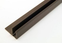 F Sections Universal Trim 3000mm for 10mm (Brown)