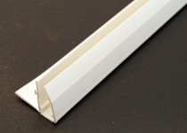 F Sections Universal Trim 4000mm for 25mm (White)