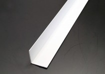 2440mm White Equal Angles (19 x 19mm)
