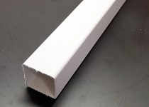 2.5m Downpipe Square (White)
