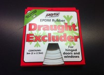 2x 2.5m EPDM Rubber Draught Excluder