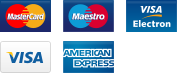 We accept payments by MasterCard, Visa, Visa Debit, Meastro and PayPal